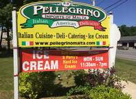 Police are investigating the disappearance of the Pellegrino Deli and Imports signs from Route 9 in Malta on July 24, 2015. (Photo provided by State Police)