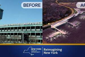 New York Gov. Cuomo announces new LaGuardia Airport - Photo