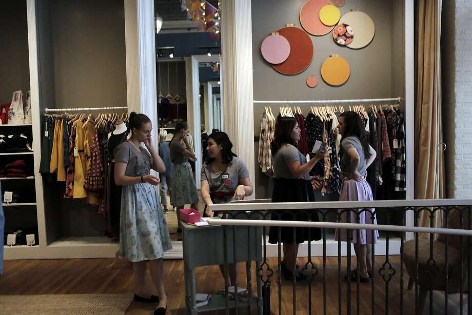 Stylists wait to help customers during the soft opening of ModCloth Fit Shop in San Francisco on Monday, July 27, 2015. Photo: Dorothy Edwards, The Chronicle
