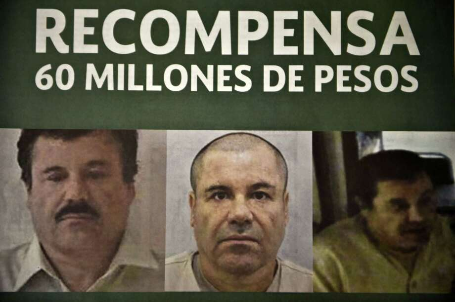 "Photo of a notice published in newspapers offering 60 million Mexican pesos (3.8 USD approximately) reward to anyone with information leading to the recapture of Joaquin ""El Chapo"" Guzman Loera in Mexico City on July 16, 2015. The government has offered a $3.8 million reward for Guzman's capture, double the amount it usually offers for the country's most wanted criminals. AFP PHOTO/ Yuri CORTEZYURI CORTEZ/AFP/Getty Images Photo: YURI CORTEZ, Staff / AFP"