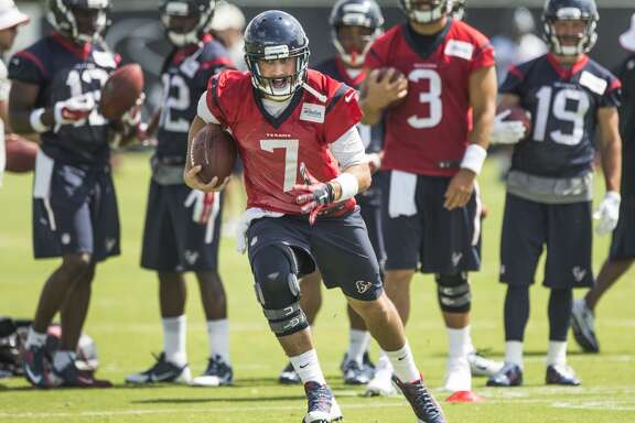 A:  It's a longstanding NFL axiom that having two starting quarterbacks is the same as having no starting quarterback at all, so coach Bill O'Brien will have to settle on one of these guys for the long haul, which makes this the overriding issue of training camp.     Every ball they both throw every day over the next few weeks be dissected like a frog in sophomore biology class. The seven-year vet Hoyer is the conventional-wisdom favorite because he at least has a measurable body of work, although it doesn't dazzle. (A recent survey of NFL coaches and talent evaluators had him rated 30th best in a 32-team league.) He was 10-6 as a starter in his hometown of Cleveland the past two seasons, going 3-0 in late 2013 before suffering a season-ending knee injury, then 7-6 in 2014, when he started well before cratering. But he's got history in O'Brien's offense, having backed up Tom Brady in New England when O'Brien was the offensive coordinator there. That's where he first met Mallett, then the Patriots' third-teamer. It was, of course, Mallett who beat Cleveland and Hoyer last fall in the first of his only two NFL starts. A torn pectoral muscle mysteriously suffered in the weight room two days later ruined him for the Bengals the following Sunday and, needing surgery to repair the damage, he went on injured reserve. Mallett is taller and possesses a stronger arm, but passing accuracy remained an issue as recently as the team's June minicamp.