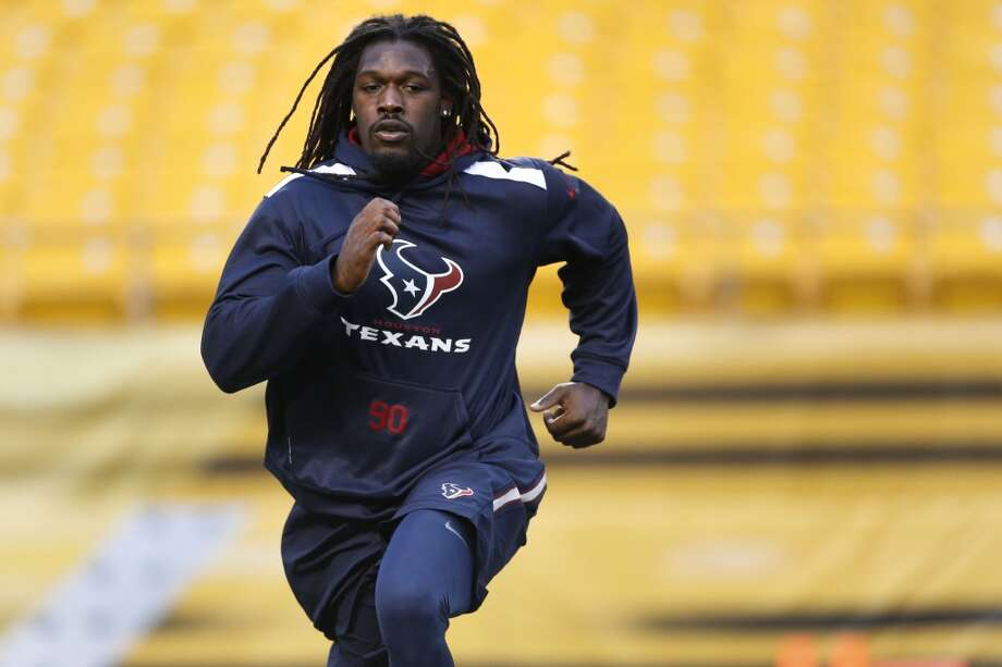 """A:Clowney endured a sports hernia and a concussion even before he got into his rookie season, then suffered a fluke – and shockingly serious – meniscus injury to his left knee in the season opener against Washington. The net result would be four game appearances, two starts and all of seven tackles before the Texans sent him back to the operating room for microfracture surgery, needed to repair damage to his articular cartilage. The recovery requires tremendous personal discipline, some cutting-edge rehab methods (blood restriction flow therapy) and a bit of luck, but Clowney appears to have come through the ordeal swimmingly.Although he presumably won't be ready for the start of training camp, his every step – however halting – will require instant analysis. """"Hard Knocks"""" will probably assign a cameraman just to him. Photo: Karen Warren, Houston Chronicle"""