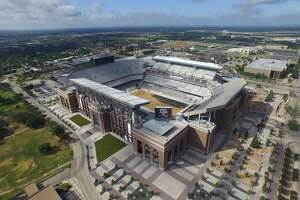 Bird's-eye view from drone shows rebuilt Kyle Field - Photo