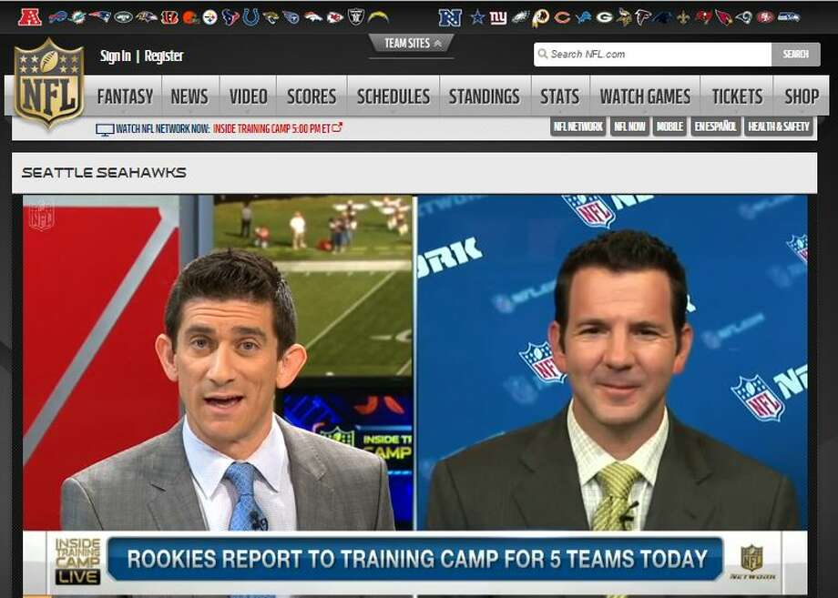 """NFL Network's Ian RapoportWhen asked about Wilson's contract negotiations Monday, Rapoport   reiterated what he'd reported weeks ago, that negotiations will shut down as soon as the quarterback steps   on the field for training camp on Saturday. Rapoport also confirmed   that the amount of fully guaranteed money and up-front cash are the deal's   major sticking points.""""The good news is, the two sides -- Russell Wilson's side and the   Seahawks' side -- are still talking,"""" Rapoport said. """"The not so good news   is they still have considerable ground to make up."""" Photo: Screenshot, NFL.com"""