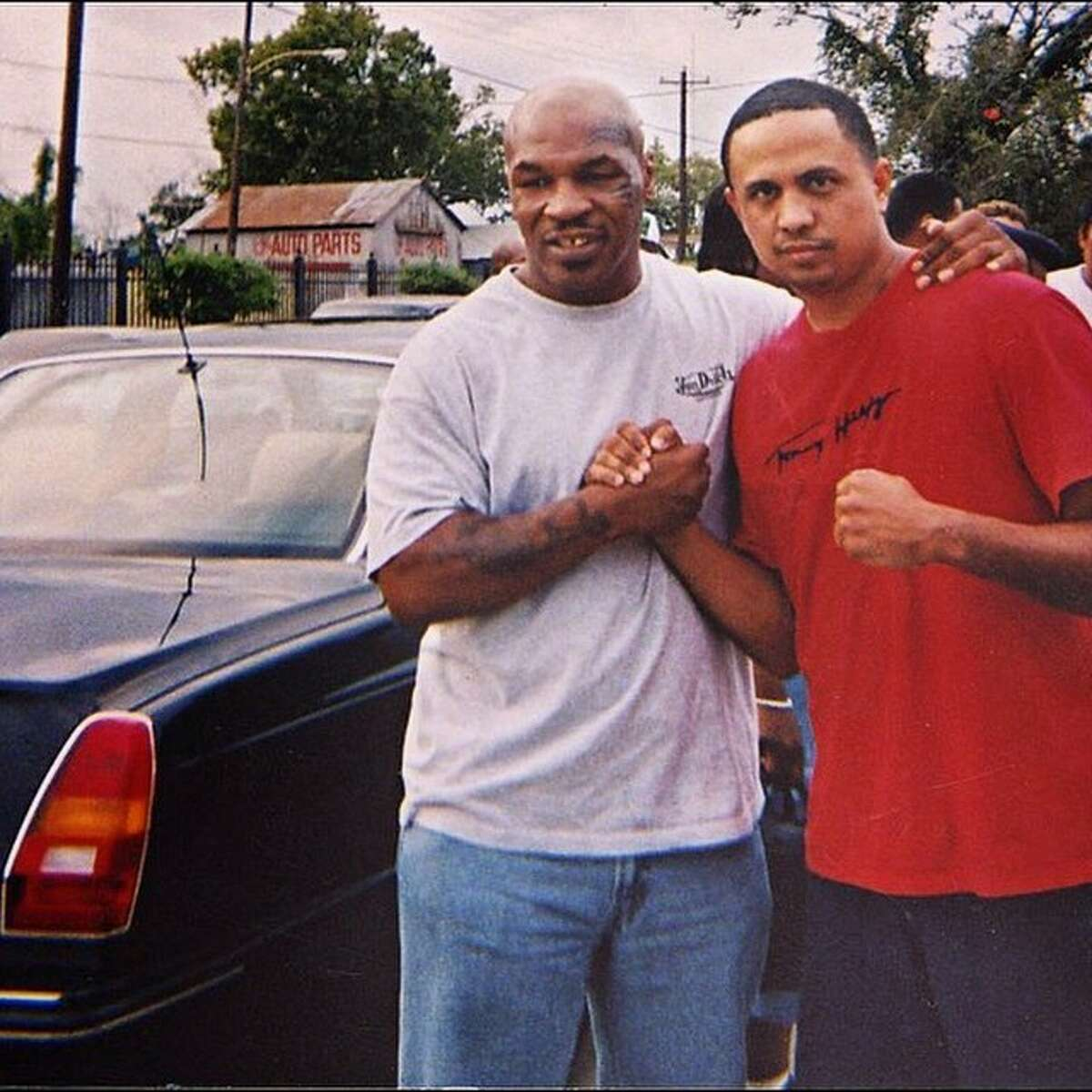 Sosa is shown in an undated photo with former boxing champ Mike Tyson.