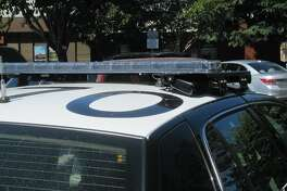 Examples of a license-reader attached to a San Leandro Police Department patrol car.