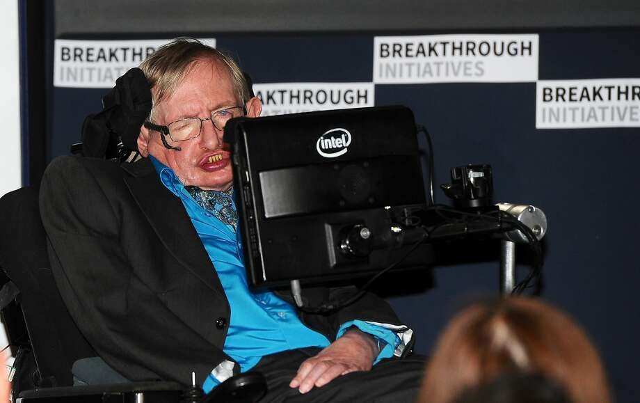 Theoretical Physicist Stephen Hawking attends a press conference on the Breakthrough Life in the Universe Initiatives, hosted by Yuri Milner and Stephen Hawking, at The Royal Society on July 20, 2015 in London, England. Photo: Stuart C. Wilson, (Credit Too Long, See Caption)