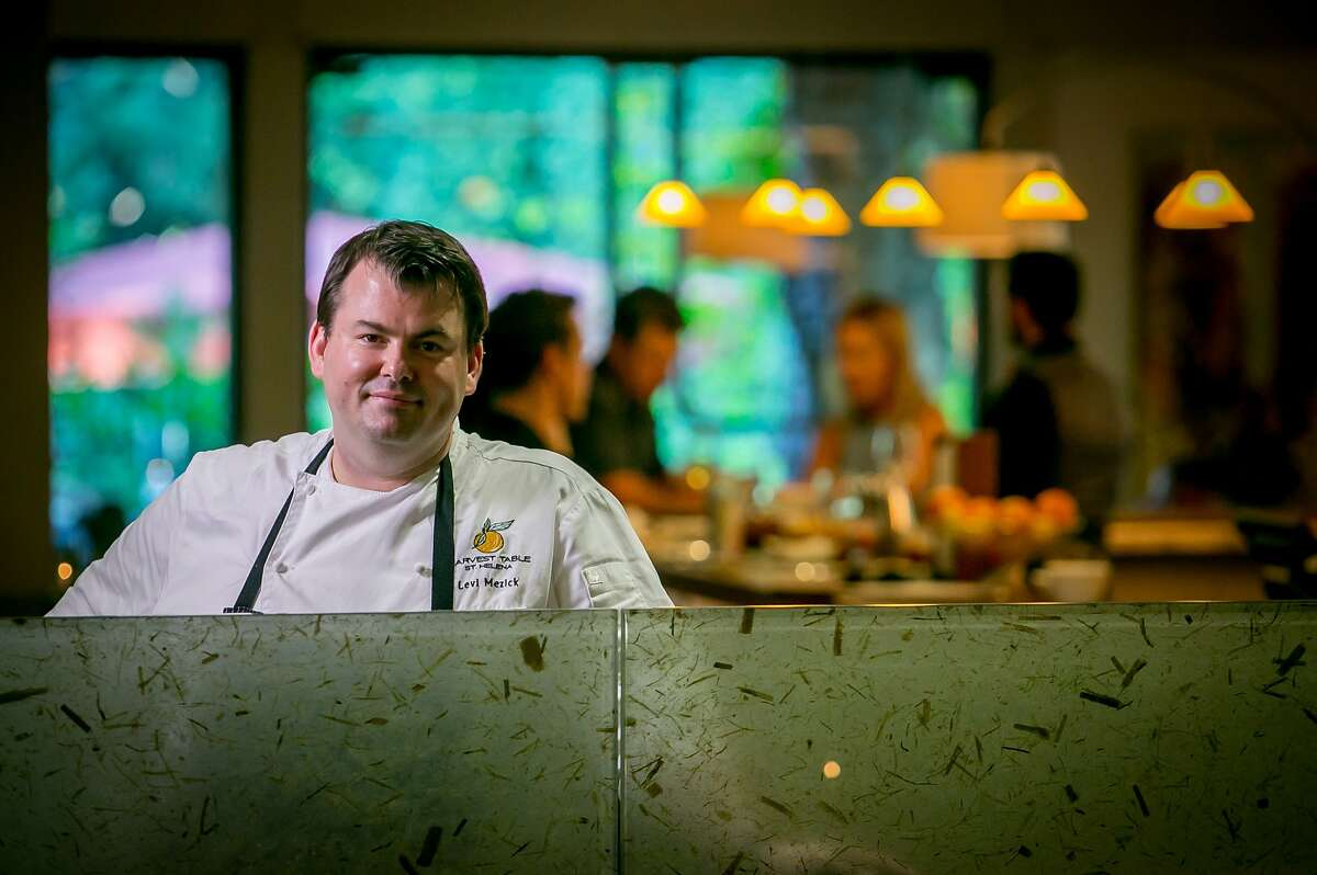 Chef Levi Mezick at Harvest Table in St. Helena, Calif., is seen on July 26th, 2015.