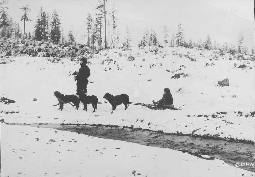 Ravenna Creek near Green Lake, pictured around 1900.