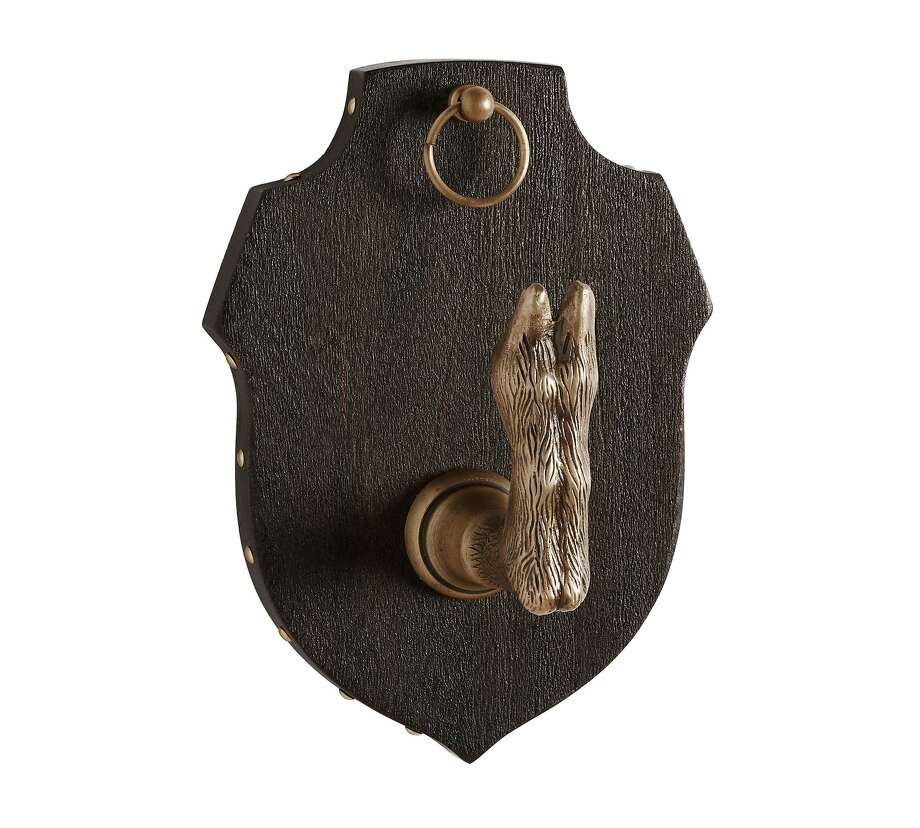 San Francisco interior designer Ken Fulk, who rose to national fame through his work with billionaire social media clients and other local monied clients, has created a line of home furnishings and accessories for Pottery Barn. Seen here: A hoof hook, $39, with a polished orange and black lacquer finish. Photo: Courtesy Of Pottery Barn