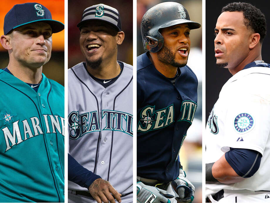 SP Felix Hernandez, 2B Robinson Cano, RF/DH Nelson Cruz, 3B Kyle Seager Cano is in his second year of a 10-year, $240 million contract. He isn't going anywhere. Trading Cruz would mean getting rid of the club's best hitter and an All-Star, not to mention a rare free agent signing that actually worked out. He is staying put. Seager this past off-season signed a seven-year, $100 million deal with a club option for 2022 after morphing himself into an All-Star and AL Gold Glove recipient in 2014. No way Zduriencik parts ways with a player they drafted, developed and helped turn into a solid hitter and premier defender.  If the Mariners trade Hernandez (12-5, 2.69 ERA), it better be for reigning AL MVP Mike Trout. Photo: Getty Images