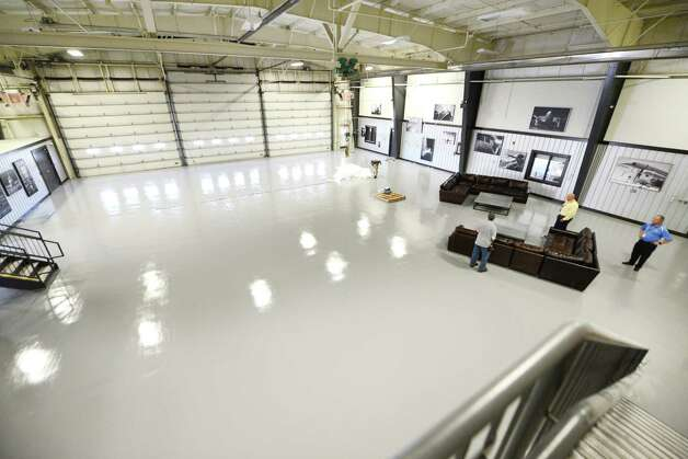 Airplane hanger and office space at IntegraOptics Monday, July 27, 2015, which located on at Albany International Airport  in Colonie, N.Y. (Will Waldron/Times Union) Photo: WILL WALDRON / 00032783A