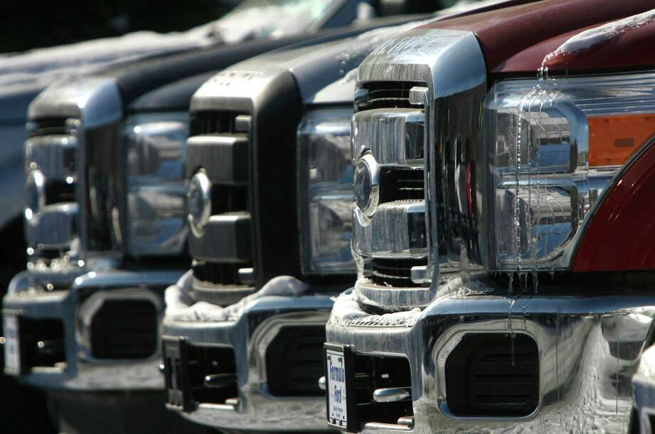 Older model Ford F-250 trucks are being targeted by thieves around The Woodlands, mirroring a trend throughout Montgomery County and Texas. Photo: Toby Talbot, STF / AP
