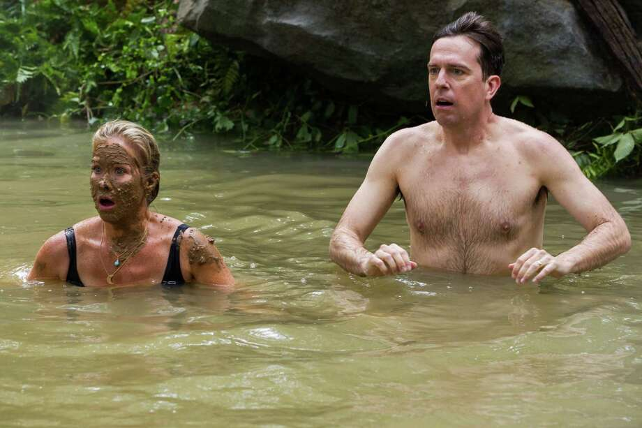 """This photo provided by Warner Bros. Pictures shows, Christina Applegate, left, as Debbie Griswold, and Ed Helms as Rusty Griswold, in a scene from New Line Cinema's comedy """"Vacation,"""" a Warner Bros. Pictures' release. (Hopper Stone/Warner Bros. Pictures via AP) Photo: Hopper Stone, HONS / Warner Bros. Pictures"""