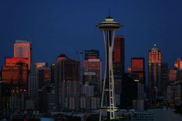 The view of the Seattle skyline from Kerry Park on Thursday, July 2, 2015. (Joshua Trujillo, seattlepi.com)