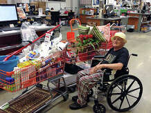 Lou Russo of New Fairfield with the goods from a $5,000 shopping spree at Home Depot.