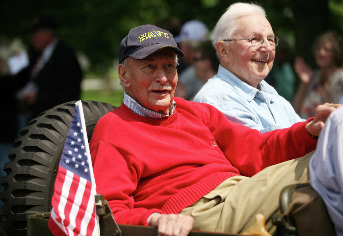 Alan Jepson rides in the Memorial Day Parade on Broad Street in downtown Milford on Sunday, May 27, 2012. Jepson, the mayor of Milford from 1963 to 1969 and a beloved city clerk for 22 years, died on Monday, July 27, 2015. He was 89.
