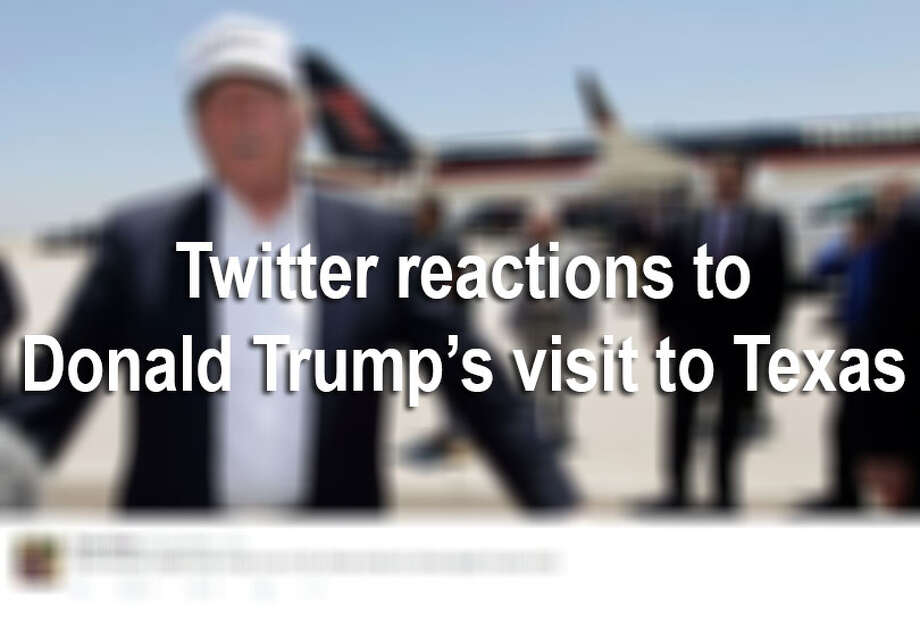 "Donald Trump came to Texas thinking Hispanics would ""love"" him, but Twitter users painted a different story.