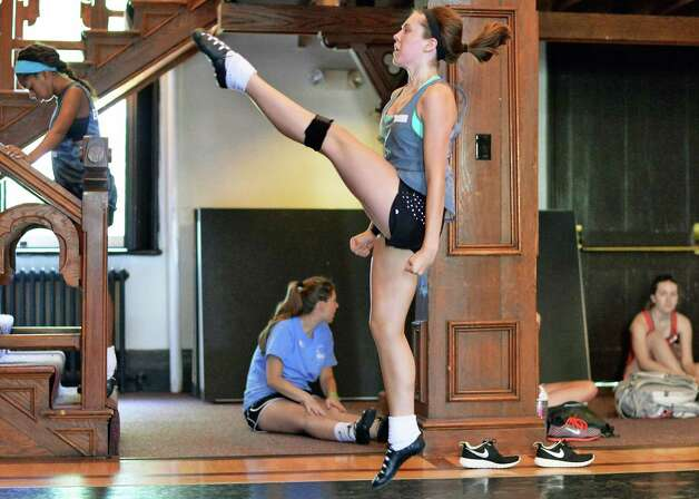 Dance student Madison Metheny, 15, of Annapolis, Maryland, performs during a class at Camp Rince Ceol Irish Dance Camp at Union College Tuesday July 28, 2015 in Schenectady, NY.  (John Carl D'Annibale / Times Union) Photo: John Carl D'Annibale / 00032741A