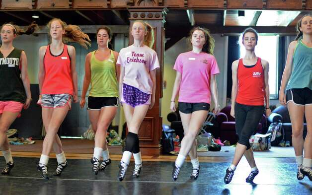 Dance students work out during Camp Rince Ceol Irish Dance Camp at Union College Tuesday July 28, 2015 in Schenectady, NY.  (John Carl D'Annibale / Times Union) Photo: John Carl D'Annibale / 00032741A
