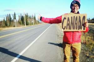 How heartbreak led a Texas State grad hitchhiking across the US - Photo