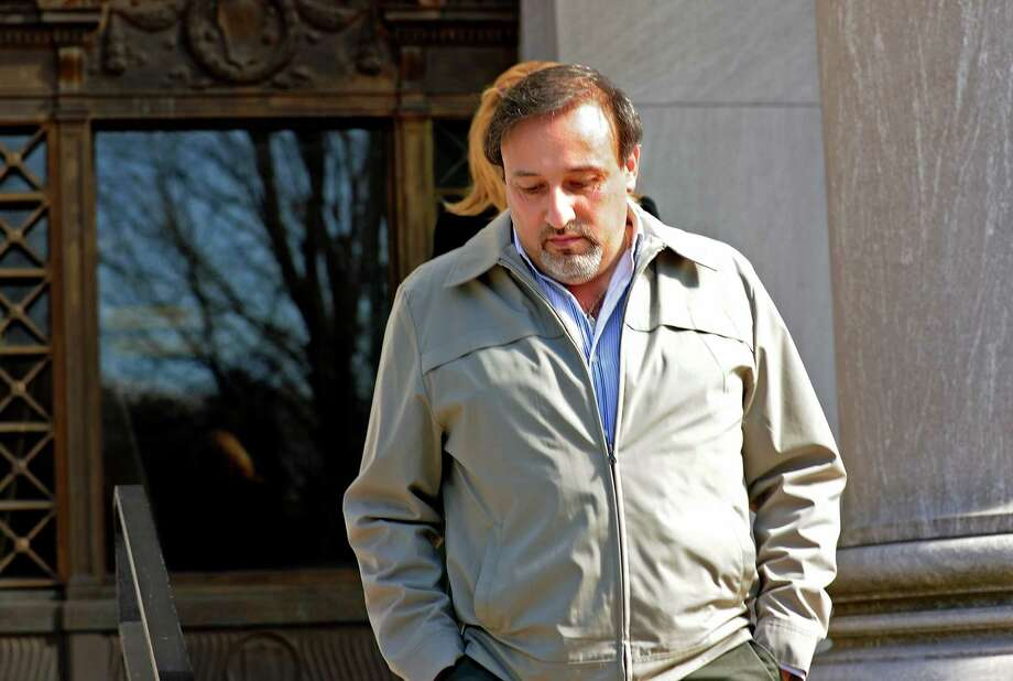 Shelton developer James Botti leaves the US District Court in New Haven on Friday, Mar. 26, 2010 following the second day of deliberation in his trial for alleged corruption. Photo: Autumn Driscoll / ST / Connecticut Post