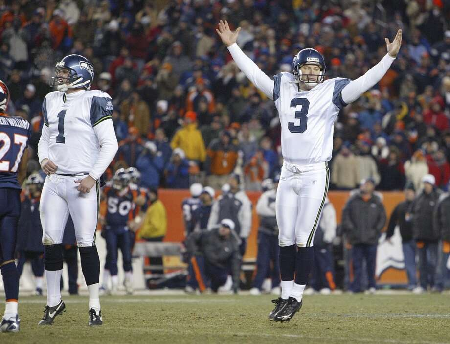 Kicker: Josh Brown Years with Seahawks: 2003-2007 Seahawks stats: 116-of-145 field goals (80.0 percent), long of   58 yards, 222-of-224 PATs (99.6 percent) Career stats: 278-of-336 field goals (82.7 percent), long of 58   yards, 385-of-387 PATs (99.5 percent) The case for: After joining the team as a seventh-round pick out   of Nebraska in 2003, Brown became the fourth-leading scorer in Seahawks   history in five years with the team. He turned down a reported five-year,   $14 million deal offer to re-sign with the team in 2008, choosing to sign   with the division-rival St. Louis Rams instead. Photo: Dan DeLong, Seattle P-I