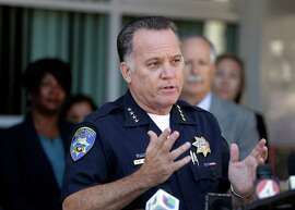 Santa Cruz Police Chief Kevin Vogel gestures during a news conference, Tuesday, July 28, 2015, in Santa Cruz, Calif. The search for missing 8-year-old girl Madyson Middleton came to a tragic end after police found a body inside a trash bin at a Northern California complex where she was last seen riding her scooter. A teenage boy, who lives in the complex was arrested around the same time the body was found and is being questioned on suspicion of homicide. (AP Photo/Ben Margot)