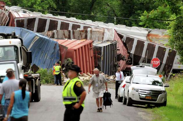 Site of a train derailment on Thursday, June 27, 2013, in Mohawk, N.Y. (Cindy Schultz / Times Union) Photo: Cindy Schultz