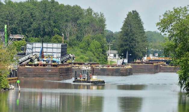 Wharf area on the Champlain Canal at the GE Hudson River Processing Facility Tuesday July 28, 2015 in Fort Edward, NY.  (John Carl D'Annibale / Times Union) Photo: John Carl D'Annibale / 00032804A