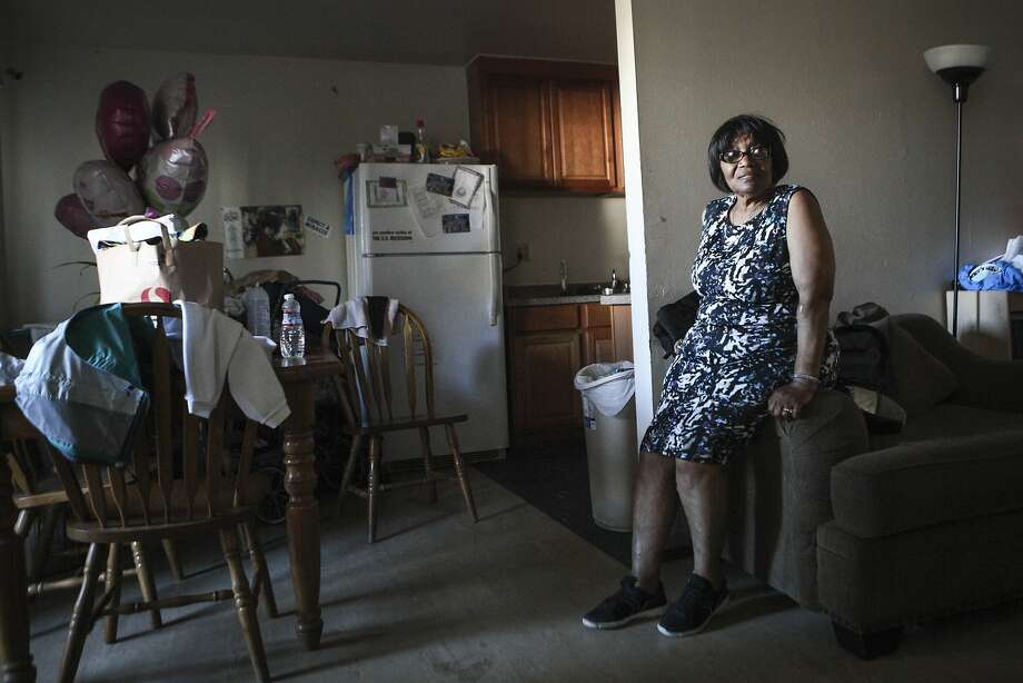 Betty Grace Evans is seen inside her home at the Frederick Douglas Haynes Gardens Apartments on Golden Gate Avenue in San Francisco, CA, on Tuesday, July 28, 2015. Evans and fellow residents are concerned about their apartment complex being illegally sold in the very near future. Roughly 80% of the residents are low-income and receive Section 8 vouchers. Photo: Loren Elliott, The Chronicle
