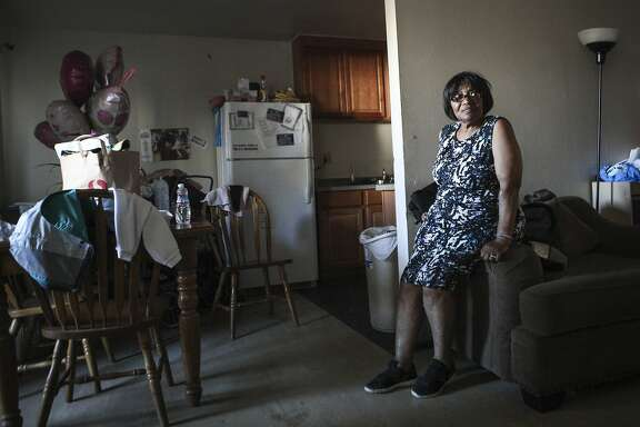 Betty Grace Evans is seen inside her home at the Frederick Douglas Haynes Gardens Apartments on Golden Gate Avenue in San Francisco, CA, on Tuesday, July 28, 2015. Evans and fellow residents are concerned about their apartment complex being illegally sold in the very near future. Roughly 80% of the residents are low-income and receive Section 8 vouchers.