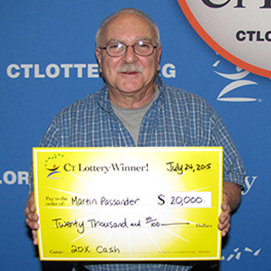 "Martin Passander, of Ansonia, won $20,000 in CT Lottery's 20X Cash"" scratch game. Photo: CT Lottery Photo"