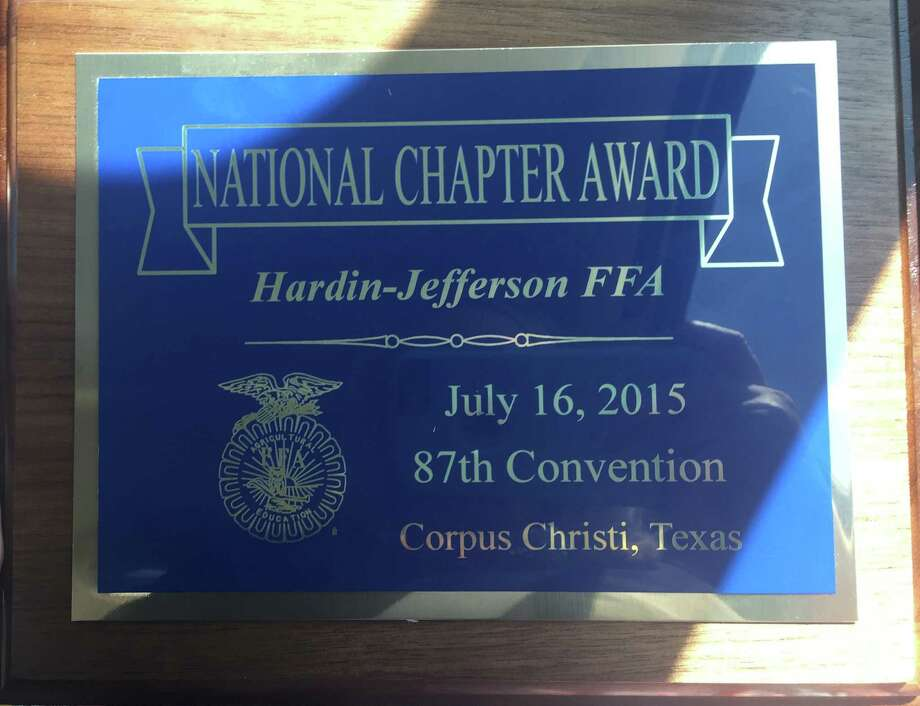 Hardin-Jefferson FFA Recognized as 17th ranked FFA Chapter in the state of TX Photo: HJ ISD