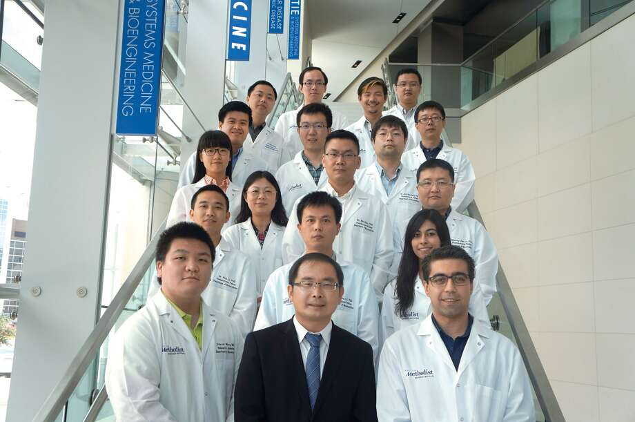 Lidong Qin and his research team in the nanomedicine department at Houston Methodist. Photo: Houston Methodist