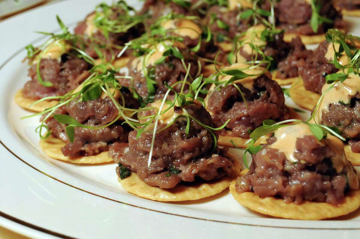 Bites from Roost at the Houston Chronicle's Culinary Stars event at the Hilton Americas Hotel Wednesday Sept. 24, 2014.(Dave Rossman photo)