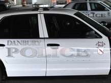 A squad car seen at the police station in Danbury, Conn. Thursday, Sept. 11, 2014.