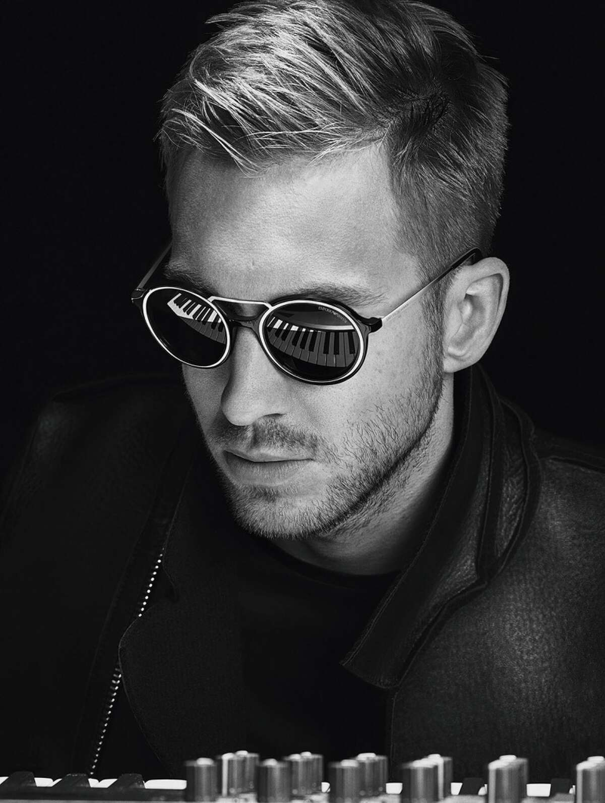 Calvin Harris models Emporio Armani eyewear. Harris, 31, who was named the world's highest paid DJ in 2014 earning $66 million, is the brand's model for its fall 2015/16 campaign.