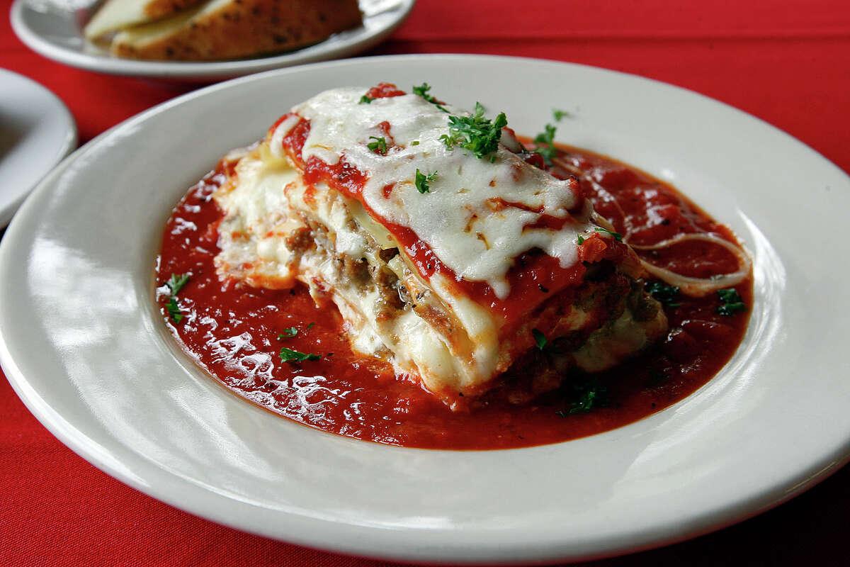 Baked lasagna at La Sorrentina Address: 3330 Culebra RoadPhone: 210-549-0889Read the Express-News review of La Sorrentina