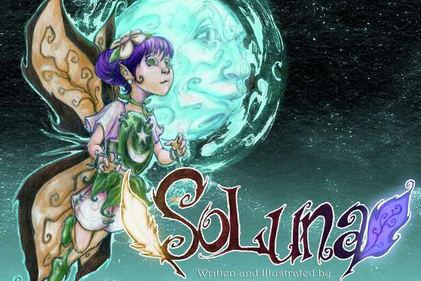 "Cover to ""SoLuna,"" a forthcoming children's rhyming book, written and illustrated by San Antonio artist Juan Carlos Ramos."