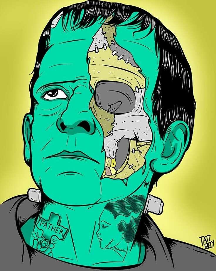 """""""Frank"""" by San Antonio artist Ray """"Tattooedboy"""" Scarborough. Photo: Ray """"Tattooedboy"""" Scarborough / Ray """"Tattooedboy"""" Scarborough"""