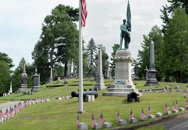 Civil war memorial at the entrance to Greenridge Cemetery Saturday July 25, 2015 in Saratoga Springs, NY.  (John Carl D'Annibale / Times Union) Photo: John Carl D'Annibale / 00032751A