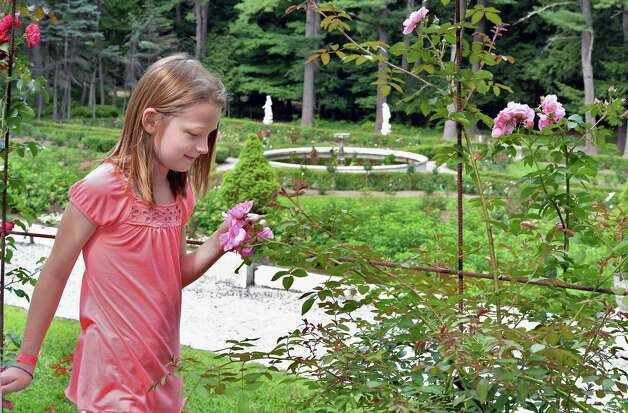Ten-year-old AriAna McClean of Ballston Spa in the gardens at Yaddo Saturday July 25,  2015 in Saratoga Springs, NY.  (John Carl D'Annibale / Times Union) Photo: John Carl D'Annibale / 00032751A