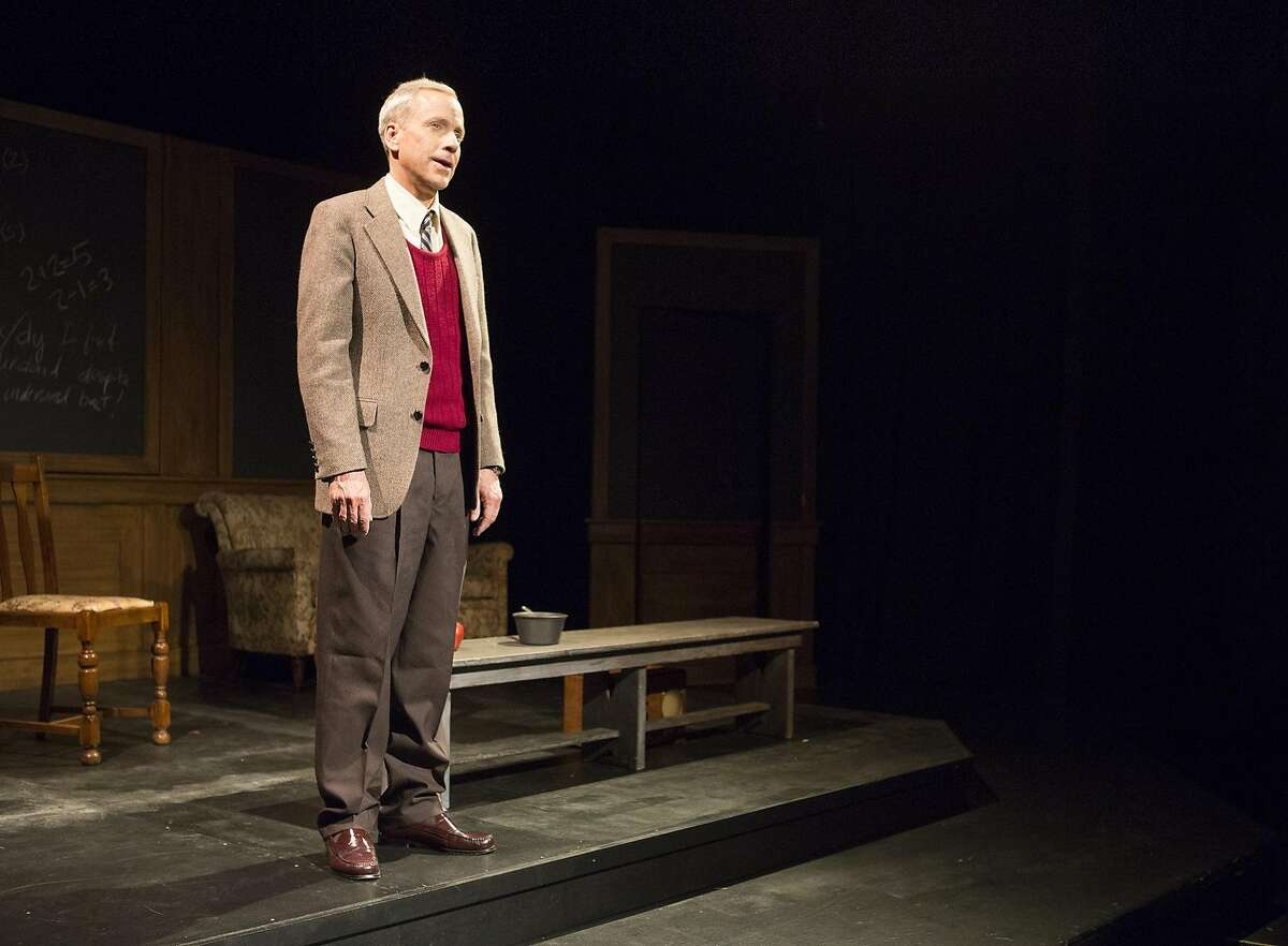 """John Fisher stars as World War Enigma code breaker Alan Turing in the heatre Rhinoceros revival of """"Breaking the Code - The Alan Turing Story"""" by Hugh Whitemore. The drama continues through Aug. 29 at the Eureka Theatre. Photo by David Wilson"""