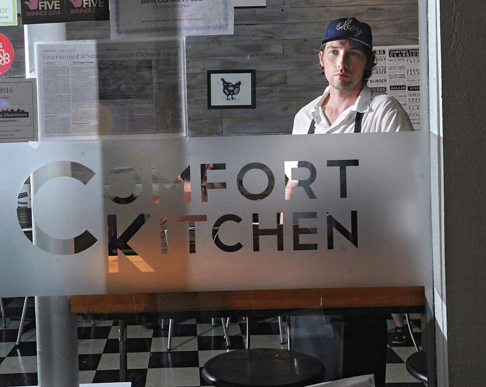 Chef Rory Moran stands inside Comfort Kitchen on Thursday, July 23, 2015 in Saratoga Springs, N.Y. (Lori Van Buren / Times Union)
