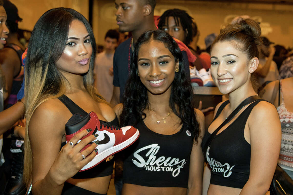 Sneakerheads show off their new kicks at the summer Sneaker Summit in Houston. July 26, 2015.