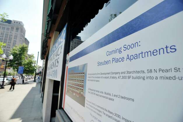 A view of the Steuben Place Apartments on North Pearl St., seen here on Wednesday, July 29, 2015, in Albany, N.Y.   (Paul Buckowski / Times Union) Photo: PAUL BUCKOWSKI / 10032818A