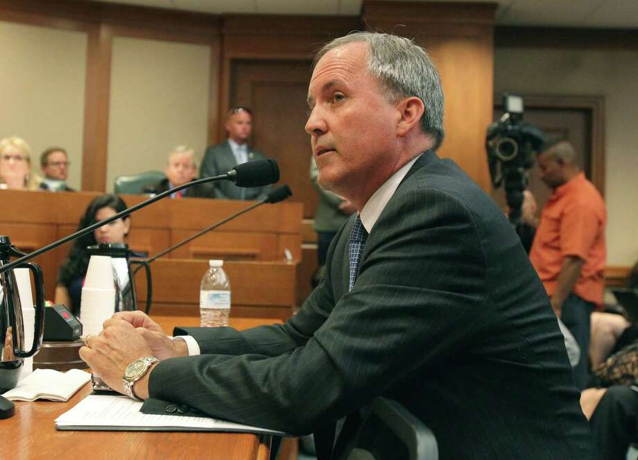 Texas Attorney General Ken Paxton appears before the Senate Health and Human Services Committee on July 29, 2015. Photo: Tom Reel / San Antonio Express-News