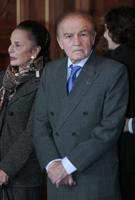 A file picture taken on October 2, 2012 shows Polish-born American lawyer, author, and Holocaust survivor Samuel Pisar and his wife Judith looking on at Paris city hall. Samuel Pisar died at the age of 86, the Representative Council of French Jewish Institutions (Crif) announced on July 28, 2015. Photo: JACQUES DEMARTHON /AFP / Getty Images / STF