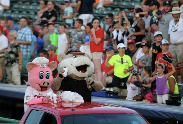 A good crowd filled the stands, braving the hot weather, as the Tri-City ValleyCats played against the West Virginia Black Bears at  Joe Bruno Stadium on Wednesday July 29, 2015 in Troy, N.Y. (Michael P. Farrell/Times Union) Photo: Michael P. Farrell / 00032765A